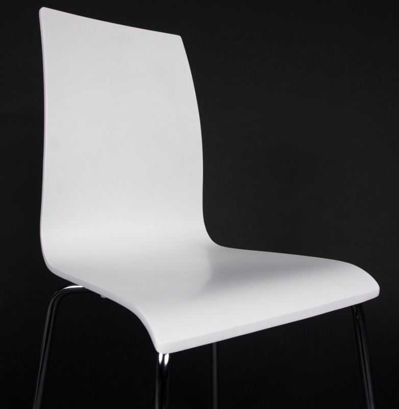 Lge White Dining Chair