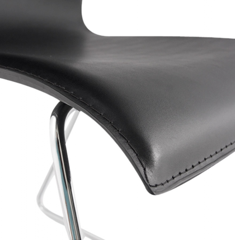 Colmar Black Faux Leather Dining Chair