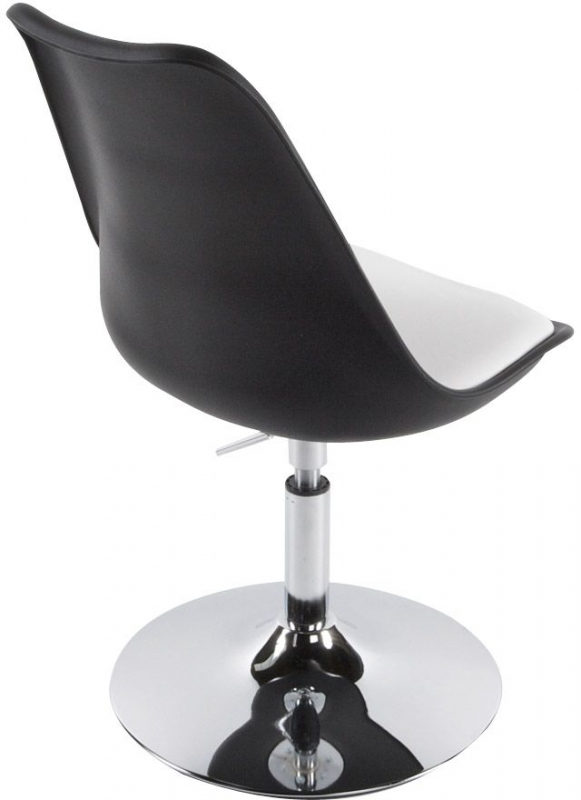 Lily Faux Leather Chair - Black and White