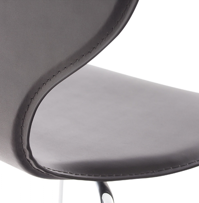 Bailee Black Faux Leather Dining Chair