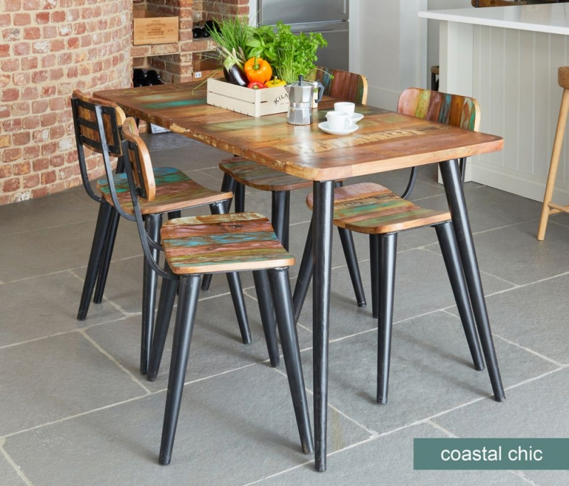 Baumhaus Coastal Chic Dining Table and 4 Chairs