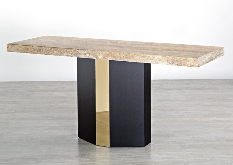 Stone International Rialto Console Table - Marble and Wenge Wood