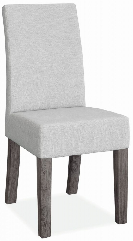 Corndell Austin Round Dining Table and 4 Chairs - Faux Concrete and Acacia