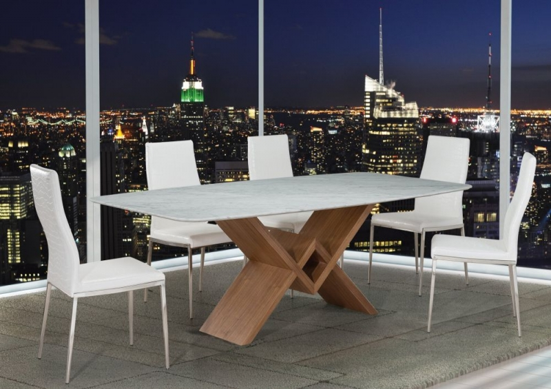 Stone International Victory Marble and Wood Dining Table