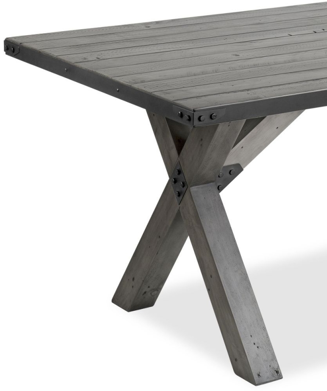 Corndell Paxton Dining Table - Recycled Pine and Metal