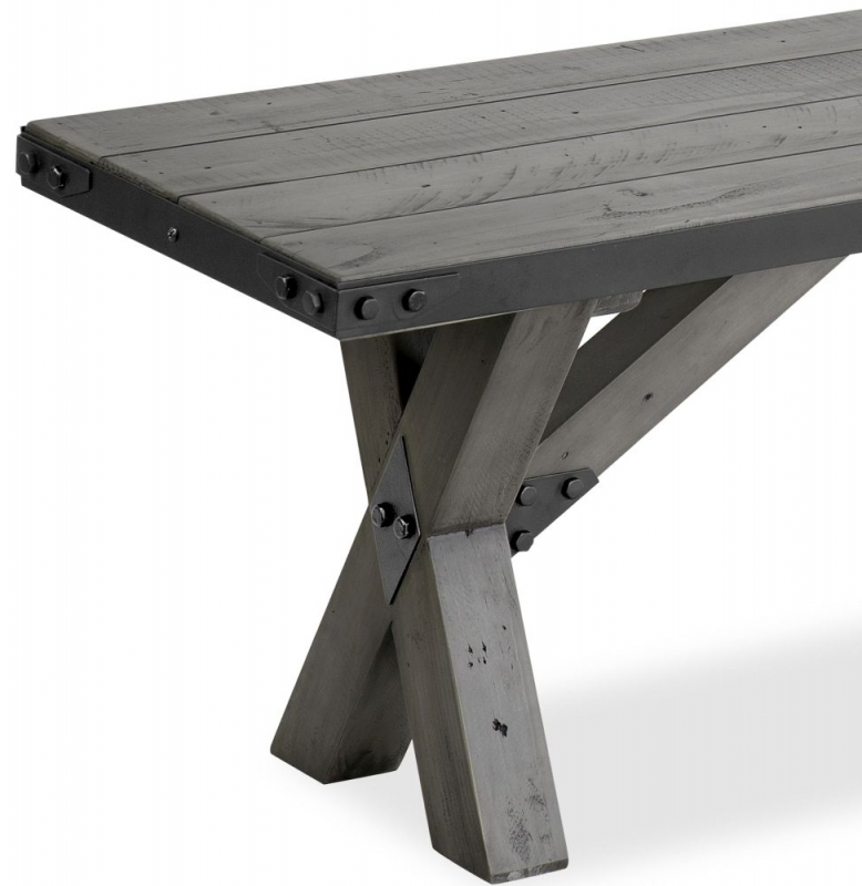 Corndell Paxton Bench - Recycled Pine and Metal