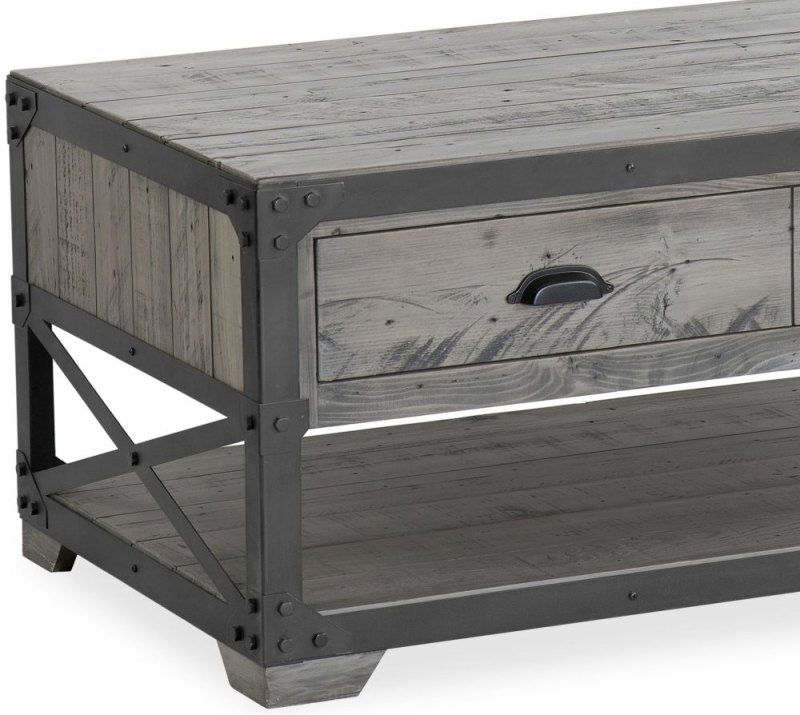 Corndell Paxton Coffee Table - Recycled Pine and Metal