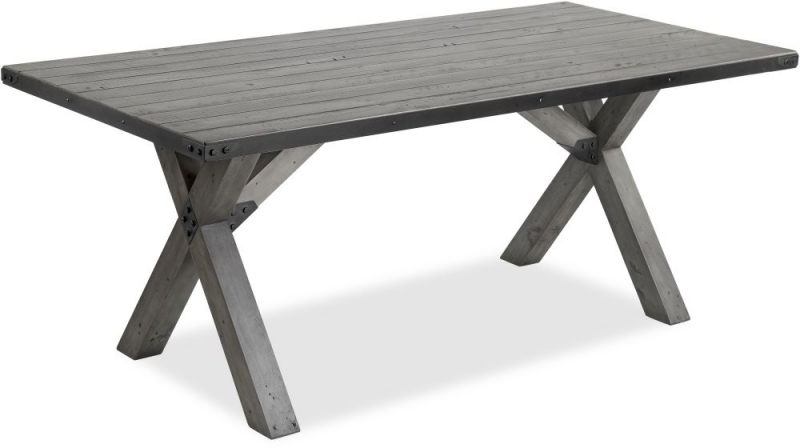 Corndell Paxton Dining Table with 5 Chair and Bench - Recycled Pine and Metal