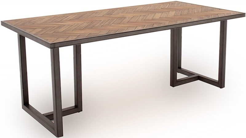 Vida Living Vanya Light Brown Large Dining Table