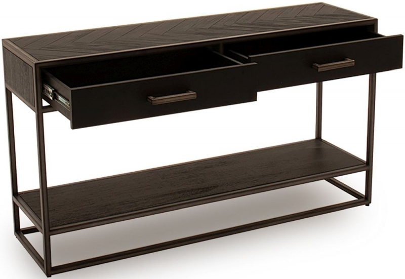 Vida Living Vanya Dark Brown Console Table