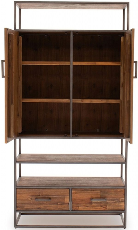Vida Living Vanya Light Brown Display Cabinet