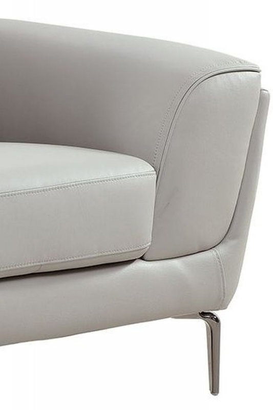 Vida Living Vitalia Grey Leather Armchair