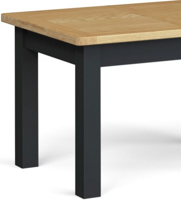 Corndell Daylesford Small Extending Dining Table - Oak and Charcoal