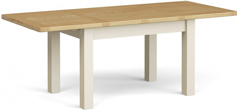 Corndell Daylesford Small Extending Dining Table - Oak and Ivory
