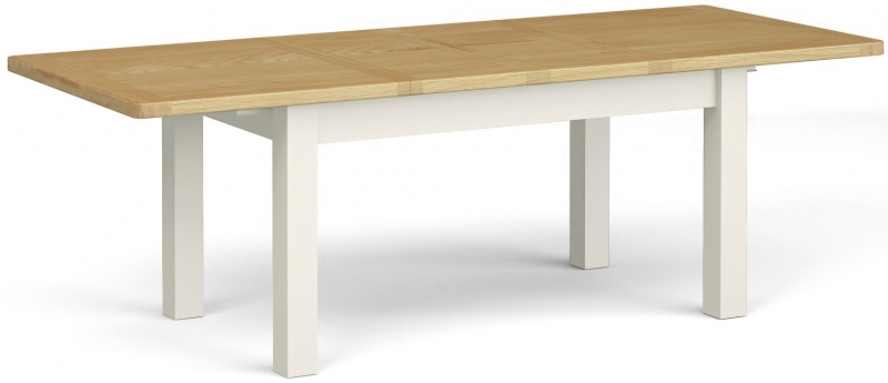 Corndell Daylesford Large Extending Dining Table - Oak and Ivory