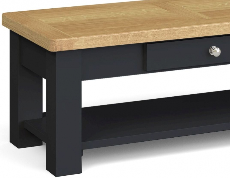Corndell Daylesford 1 Drawer Coffee Table - Oak and Charcoal