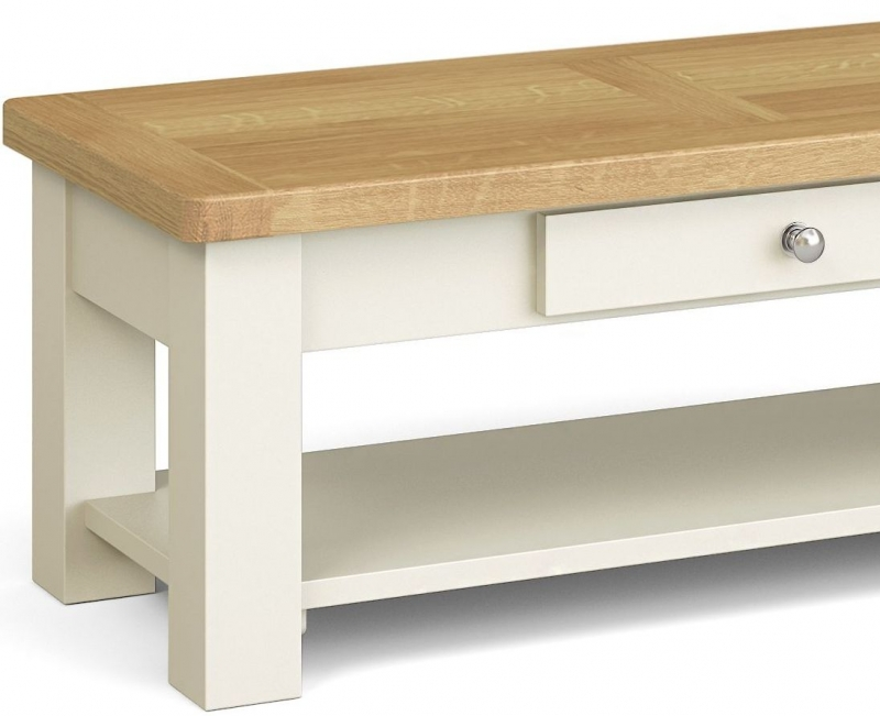 Corndell Daylesford 1 Drawer Coffee Table - Oak and Ivory