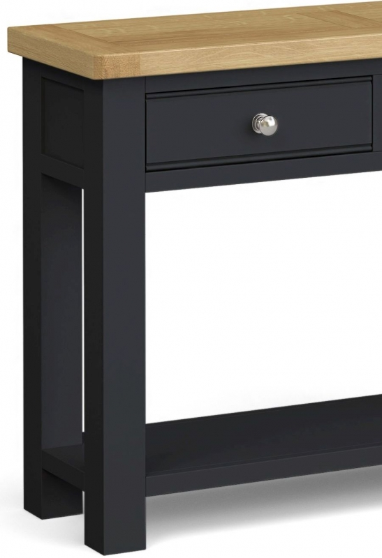 Corndell Daylesford 2 Drawer Console Table - Oak and Charcoal