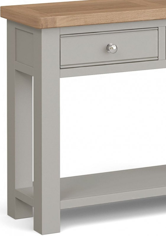 Corndell Daylesford 2 Drawer Console Table - Oak and Pebble Grey
