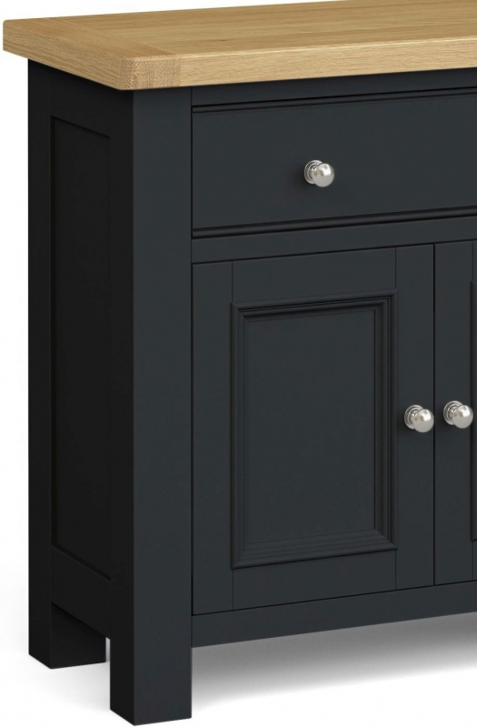 Corndell Daylesford 2 Door 1 Drawer Mini Sideboard - Oak and Charcoal
