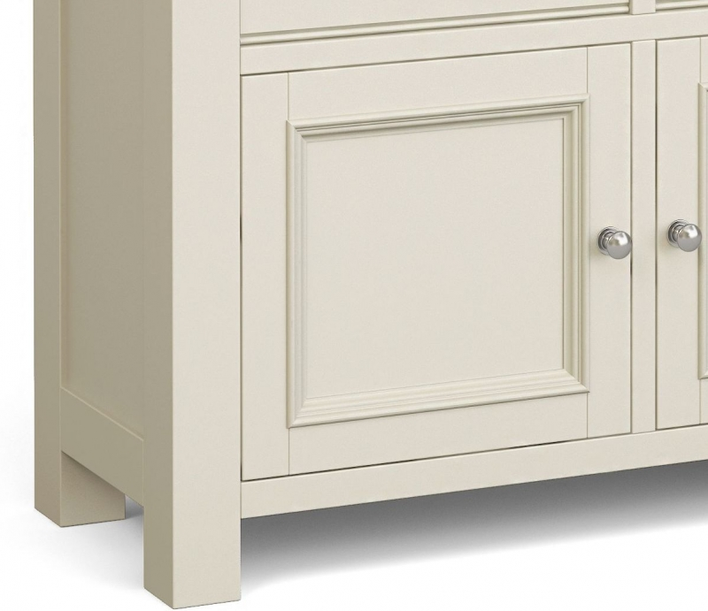 Corndell Daylesford 2 Door 2 Drawer Small Sideboard - Oak and Ivory
