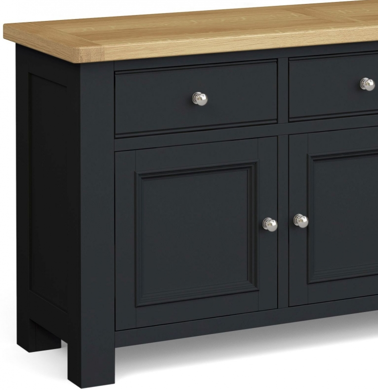 Corndell Daylesford 3 Door 3 Drawer Large Sideboard - Oak and Charcoal