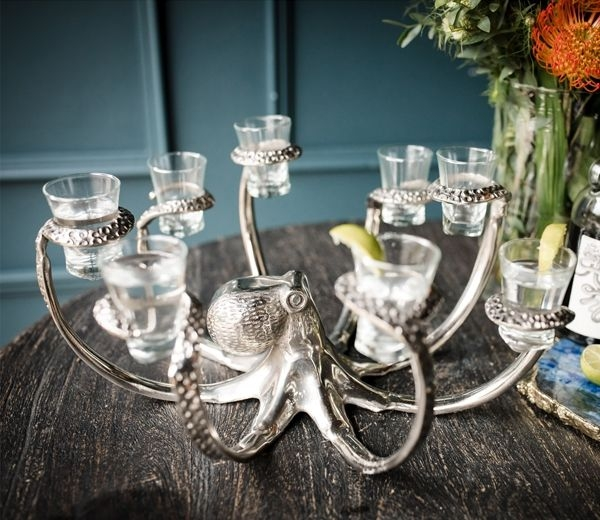 Cullinary Concept Octopus Eight Shot Glass Holder