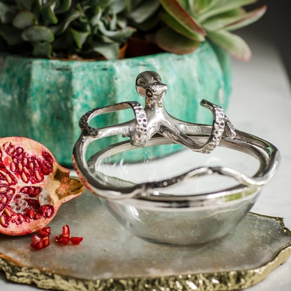 Cullinary Concept Octopus Small Glass Bowl