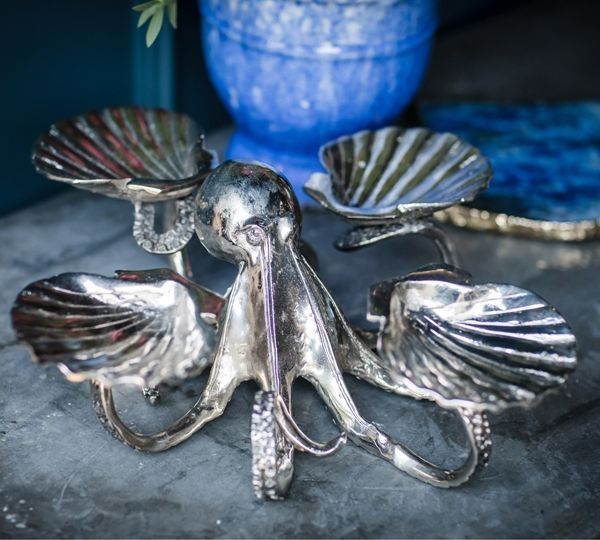 Cullinary Concept Octopus and Four Shell Serving Stand