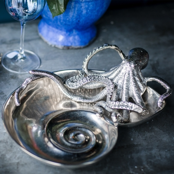 Cullinary Concept Octopus Ammonite Shell Serving Dish
