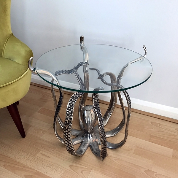 Cullinary Concept Octopus Table with Large Glass Top