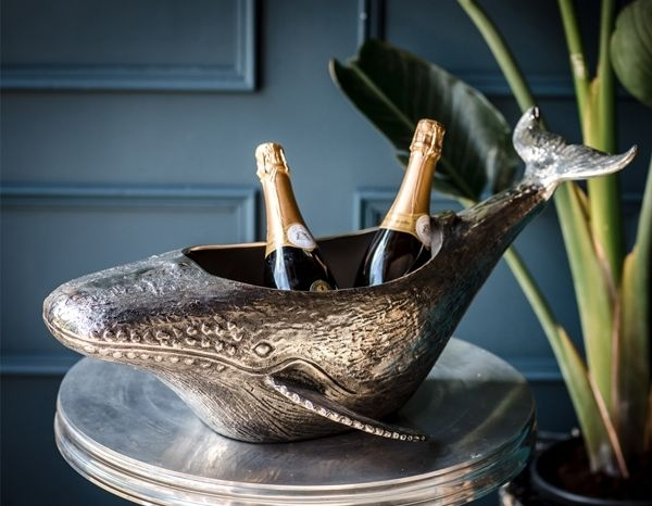 Cullinary Concept Whale Champagne Bottle Holder