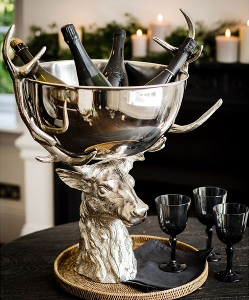 Cullinary Concept Large Punch Bowl with Stag Stand