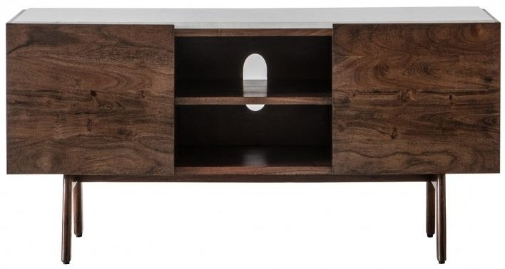 Clearance Half Price - Gallery Direct Barcelona Media Cabinet - New - D152