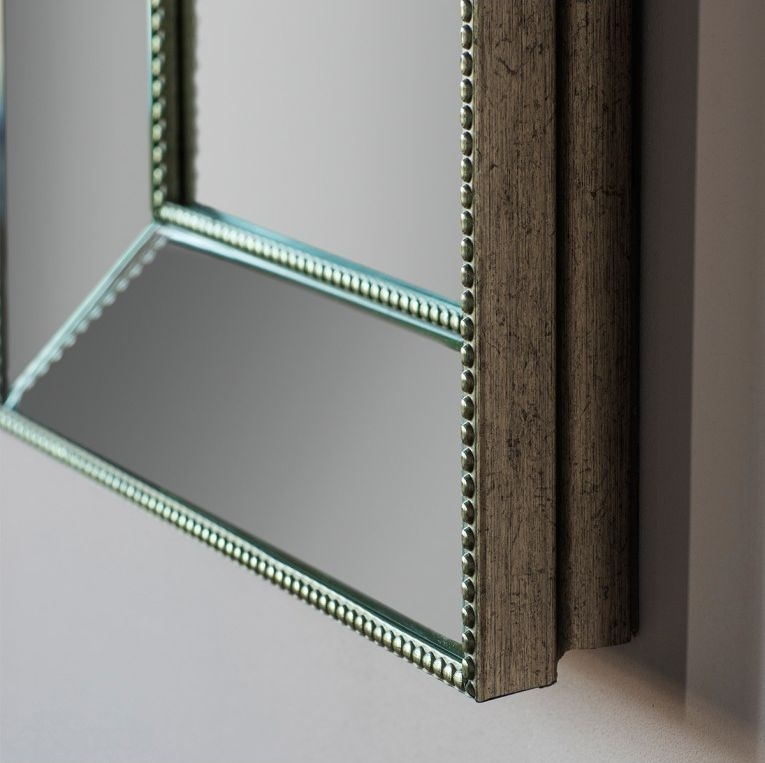 Clearance - Gallery Direct Radley Rectangular Mirror - Silver 79.5cm x 109.5cm - New - D167