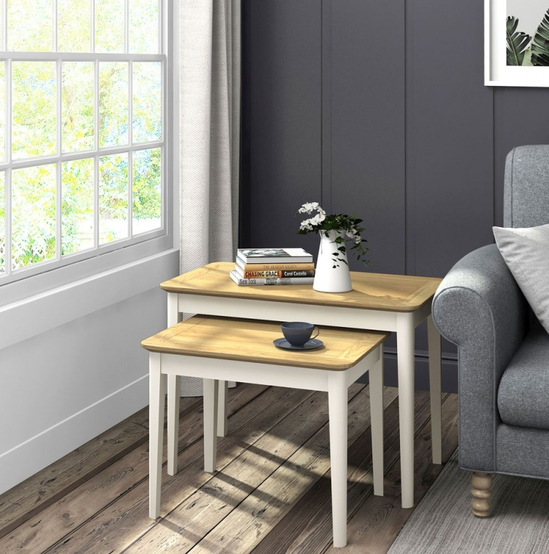 Global Home Ascot Painted Nest Of Table