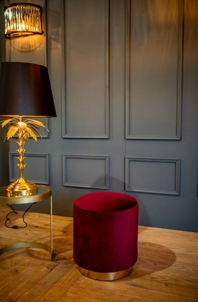 Cullinary Concept Small Claret Velvet Stool