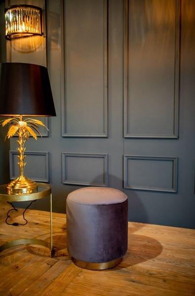 Cullinary Concept Small Dark Grey Velvet Stool