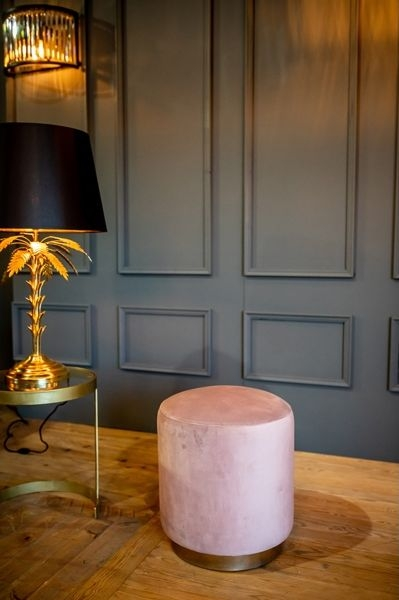 Cullinary Concept Small Dusty Pink Velvet Stool