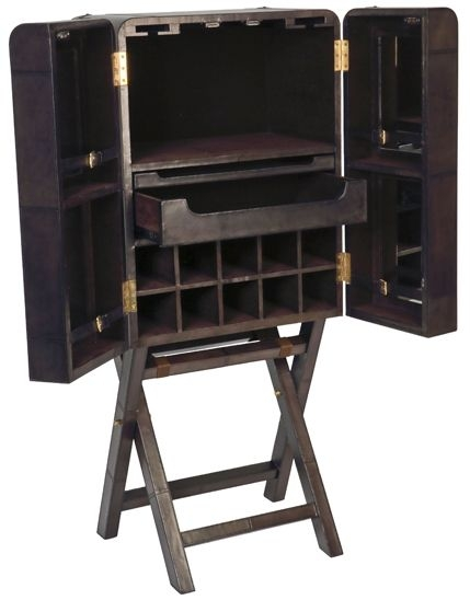 Cullinary Concept Panama Dark Grey Large Bar Cabinet