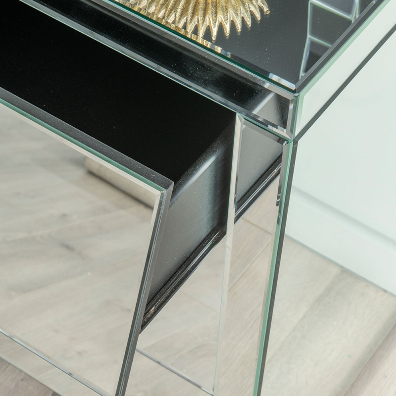 Urban Deco Angled Mirrored 3 Drawer Wide Chest