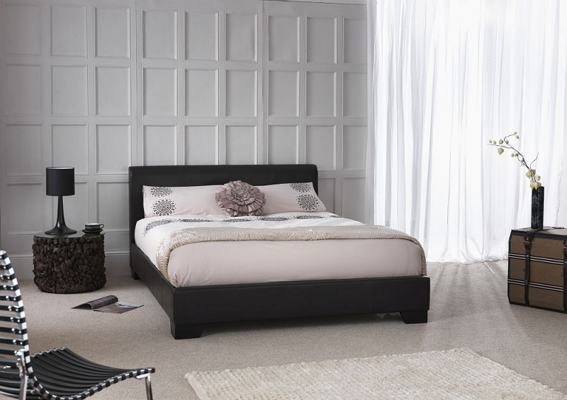 Serene Parma Brown Faux Leather Bed