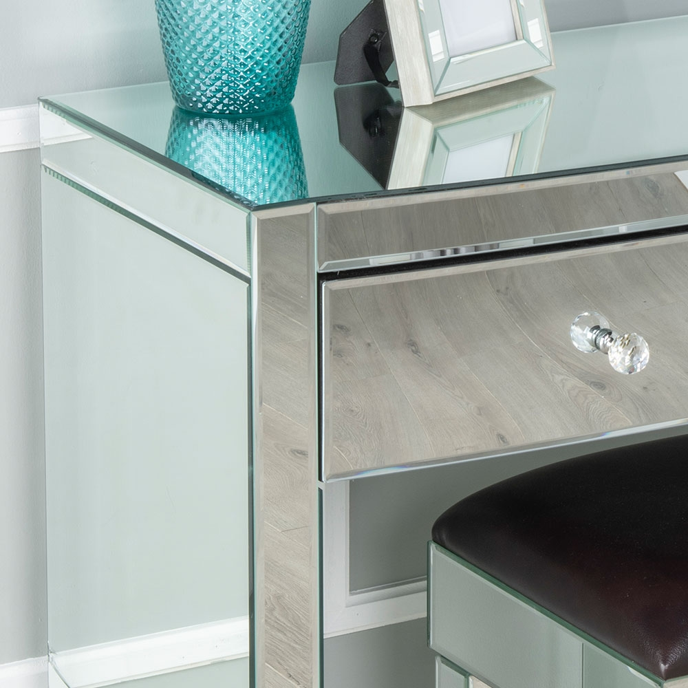 Urban Deco Curve Mirrored Dressing Table