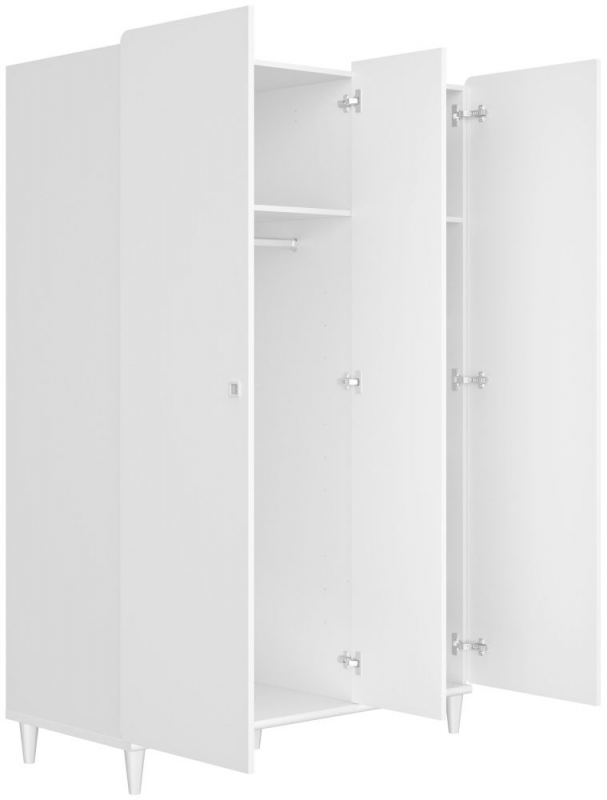 Gami April White 3 Door Wardrobe