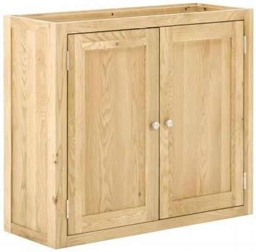Handmade Oak 2 Door Wall Cabinet