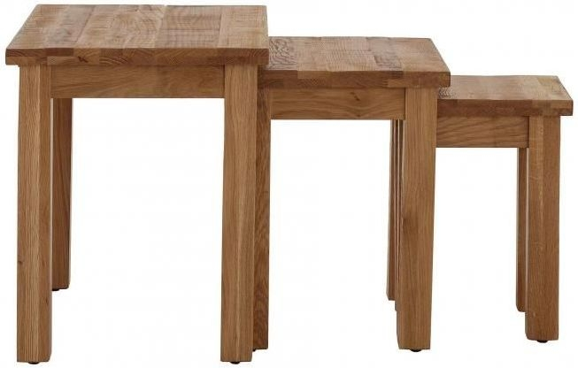 Vancouver Sawn Oak Nest of 3 Table