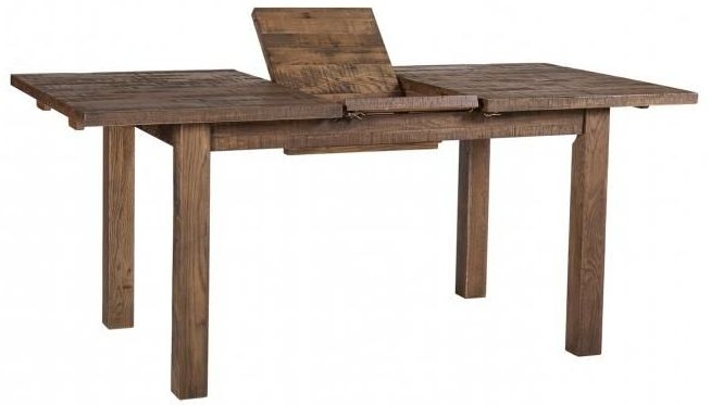 Vancouver Sawn Old Oak Extending Dining Table