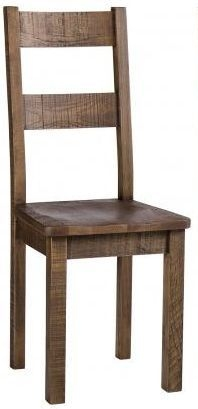 Vancouver Sawn Old Oak Dining Chair With Timber Seat (Pair)