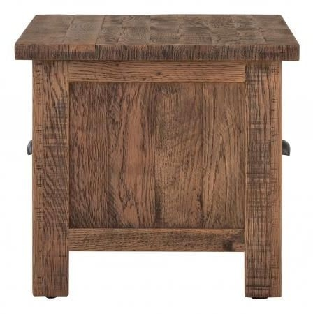 Vancouver Sawn Old Oak 2 Drawer Large Coffee Table