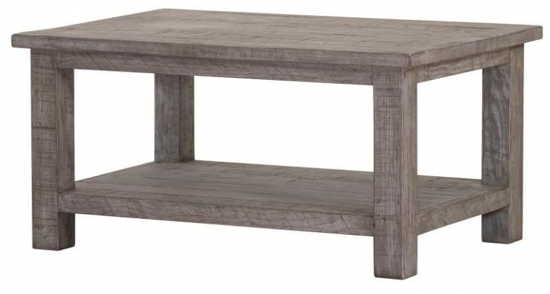 Vancouver Sawn Grey Washed Oak Rectangular Coffee Table